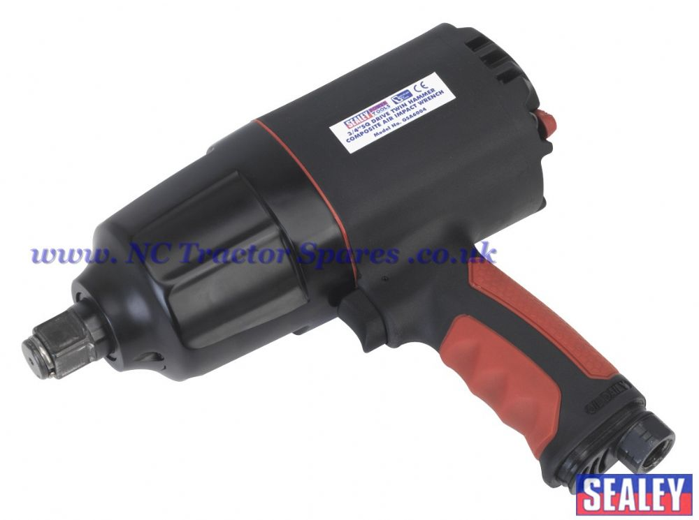 "Composite Air Impact Wrench 3/4""Sq Drive Twin Hammer"